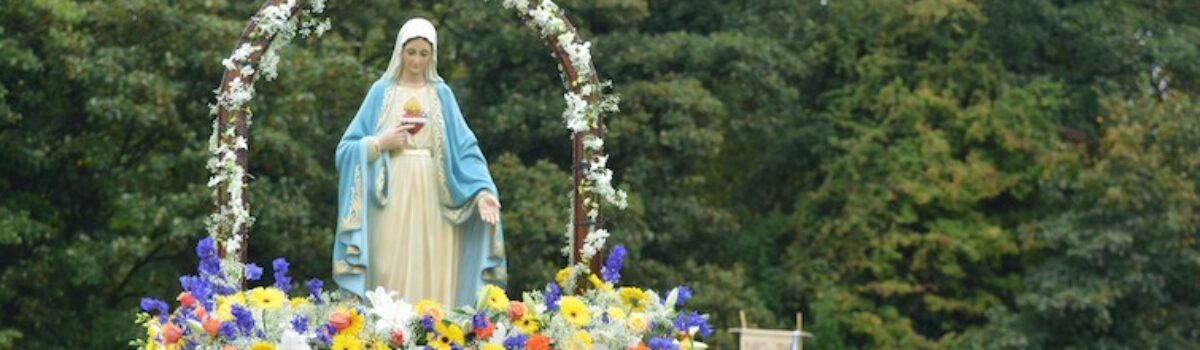 Why Catholics carry statues of Mary